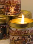 Irish Turf Fire Hand Poured Candle In A Tin