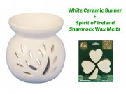Ceramic Burner and Shamrock Wax Melts