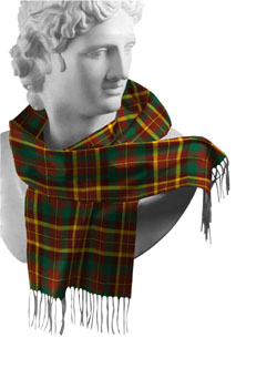 Monaghan County Tartan Lambswool Scarf - Click Image to Close