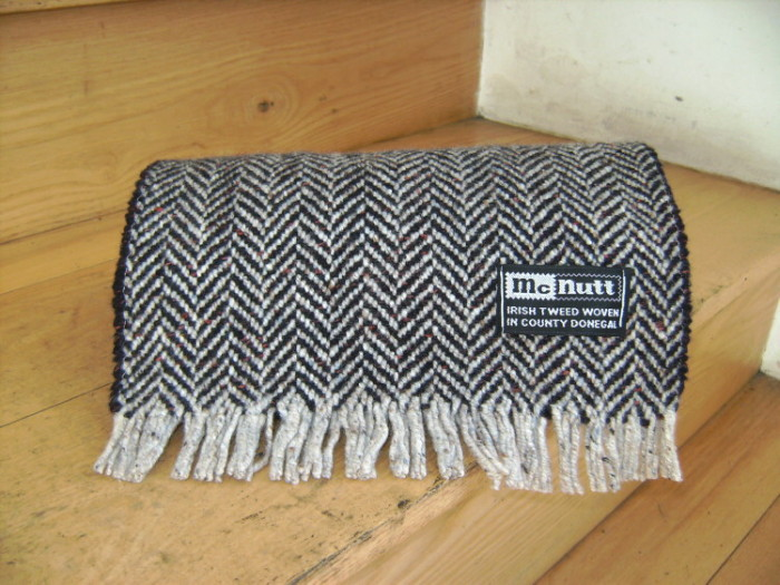 Turf and Cloud Herringbone Scarf
