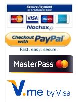 Use Credit or Debit Card, PayPal or Nochex to pay.